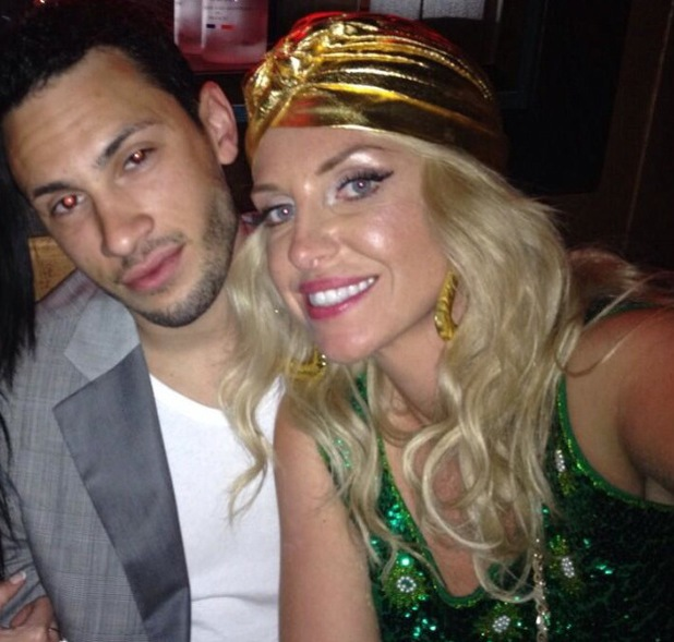 Josie Gibson's boyfriend Luke gets ready for 80s/90s retro party - 22 May 2014