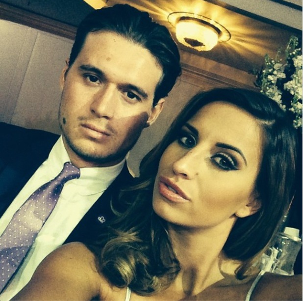 TOWIE's Charlie Sims and Ferne McCann at the Caudwell Children Butterfly Ball 2014 held at the Grosvenor Hotel. 15 May 2015.