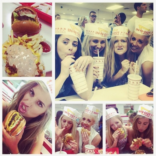 Ferne McCann enjoying In and Out burger in Las Vegas, 24 May 2014