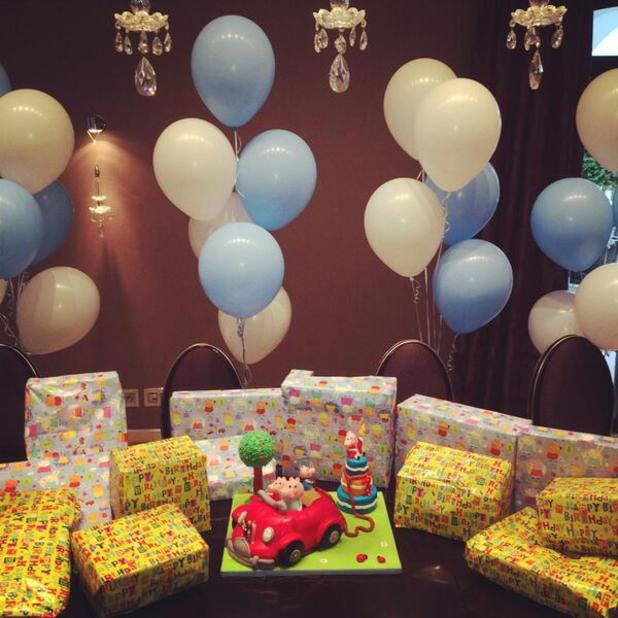 Coleen Rooney celebrates son Klay's first birthday - 21 May 2014