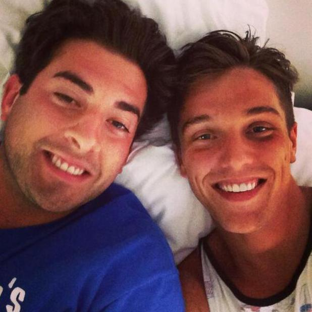 TOWIE's Lewis Bloor and James 'Arg' Argent take a selfie at bootcamp (19 May).