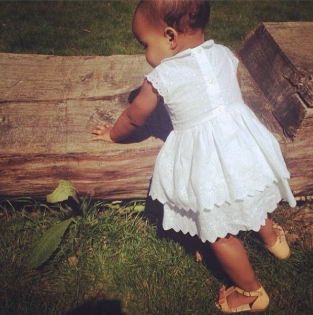Rochelle Humes takes a pic of her daughter, May 14