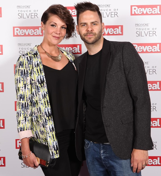 5ive's Scott Robinson and his wife Kerry attend Reveal's Online Fashion Awards, DSTRKT, London, 20 May 2014