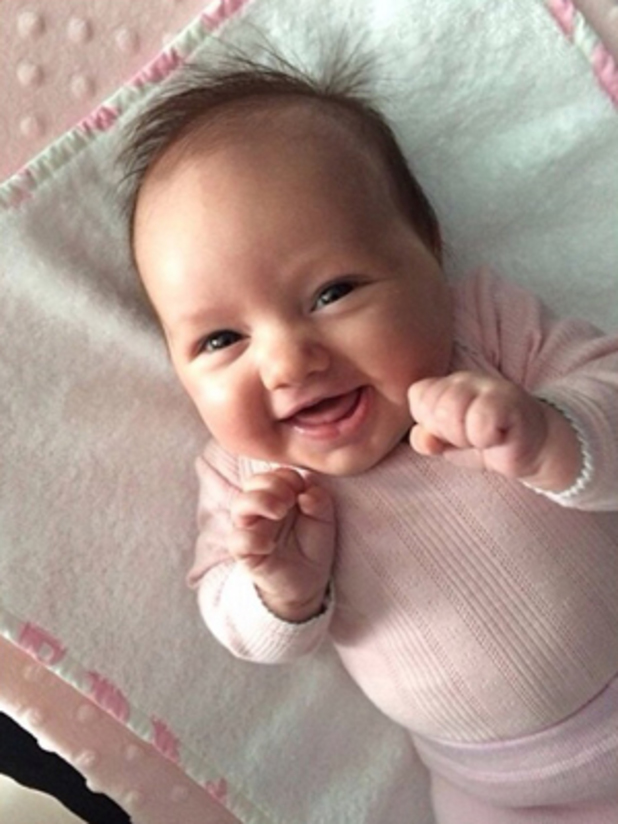 Tamara Ecclestone shares photograph of nine week old daughter Sophia, 19 May 2014