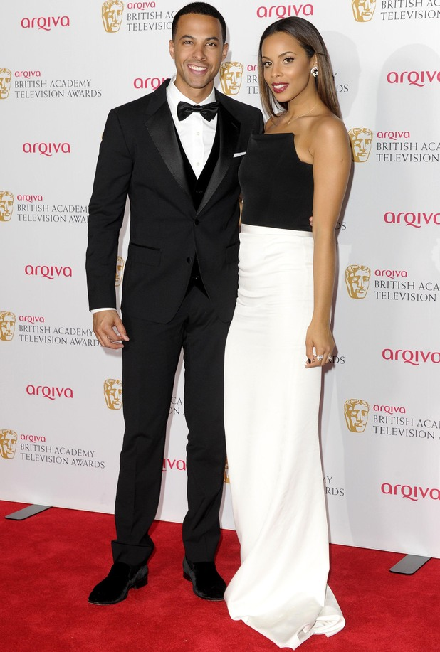 Arqiva British Academy Television Awards, press room, Theatre Royal, London, Britain - 18 May 2014 Marvin and Rochelle Humes