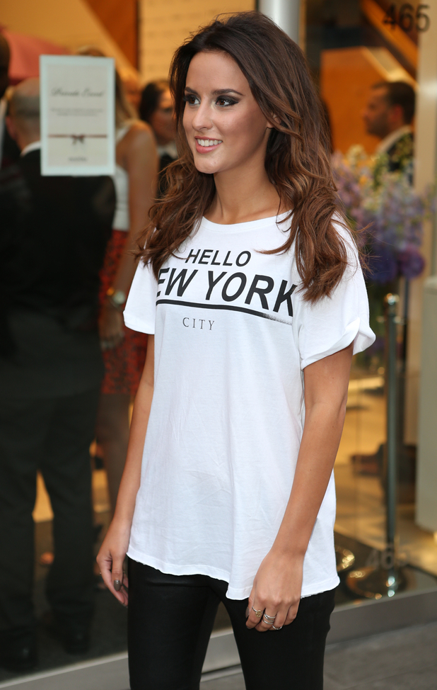 Lucy Watson attends the launch of MyRingsMyStyle at the Pandora store on Oxford Street, London, England - 21 May 2014