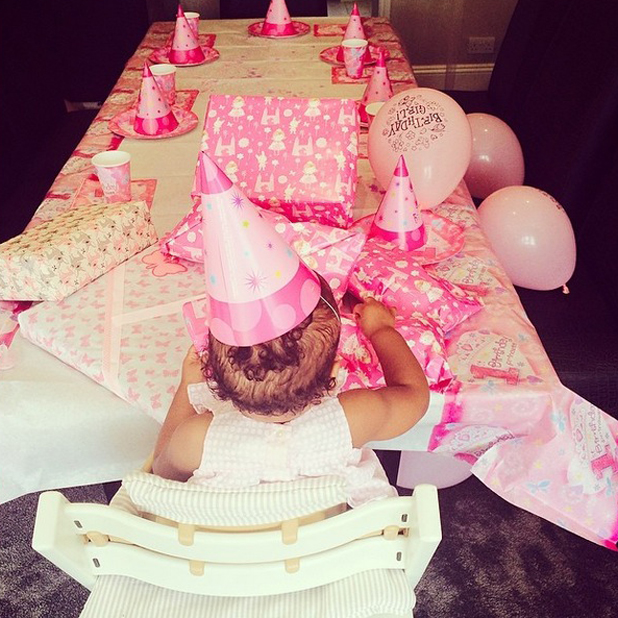 Rochelle and Marvin Humes celebrate daughter Alaia-Mai's first birthday, 20 May 2014