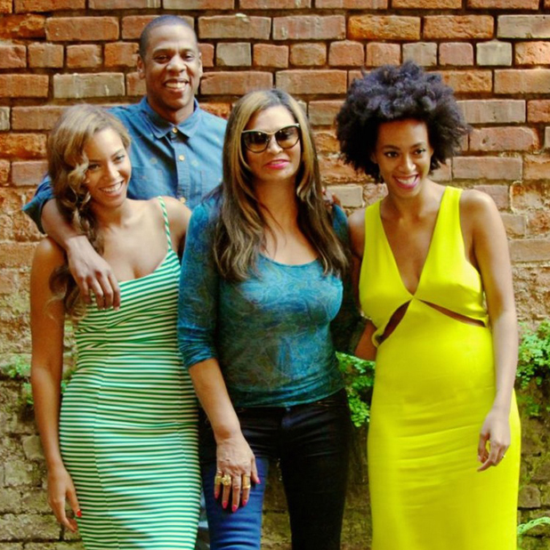 Solange, Beyonce and Jay Z put lift attack footage behind them with family reunion in New Orleans, May 2014