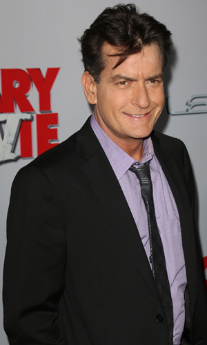 Charlie Sheen at the premiere of 'Scary Movie 5' at ArcLight Cinemas Cinerama Dome in Hollywood, 2013