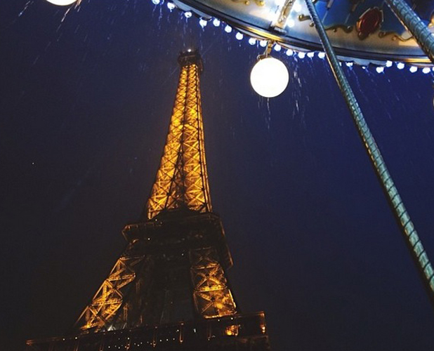 Kendall Jenner's photo of a rainy night in Paris, 21 May 2014