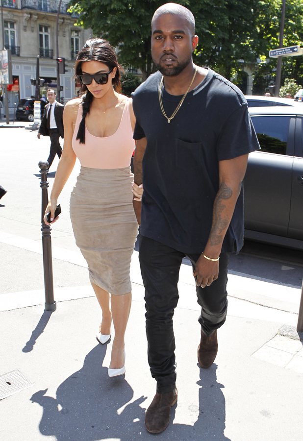 Kim Kardashian and Kanye West out and about, Paris, France ahead of their wedding - 19 May 2014