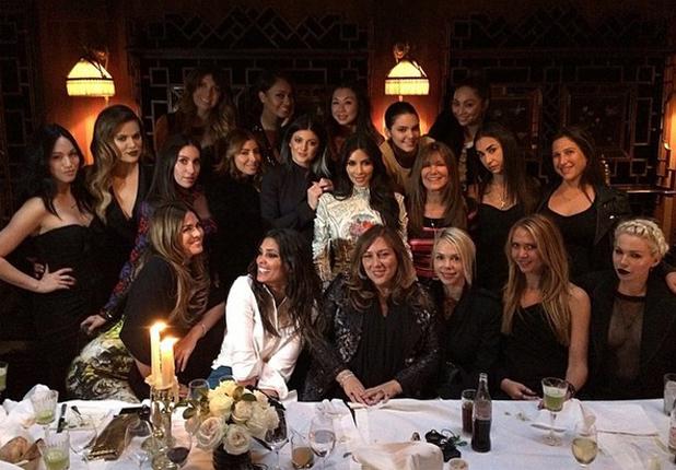 Kim Kardashian celebrates final night of singleton with her girlfriends in Paris, 22 May 2014