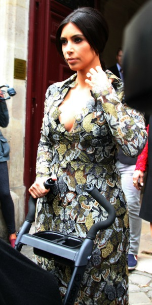 Kim Kardashian ahead of a brunch at Valentino's castle in Paris,, 23 May 2014