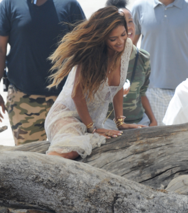 """Nicole Scherzinger spotted on the beach of Malibu California filming a music video for her new single """"Your Love"""", 19 May 2014"""