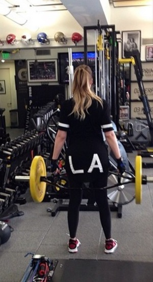 Khloe Kardashian works out at the gym, 31 May 2014