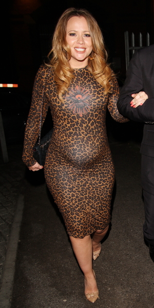 Celebrities including Kimberley Walsh attend Denise Van Outen's birthday dinner at Gilgamesh, 31 May 2014