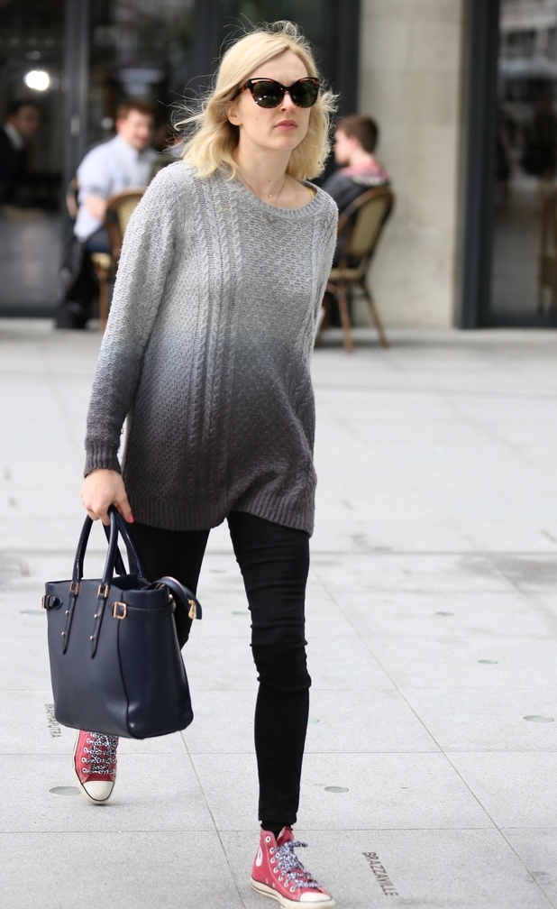 Fearne Cotton on the way to radio 1 studios, 29 May