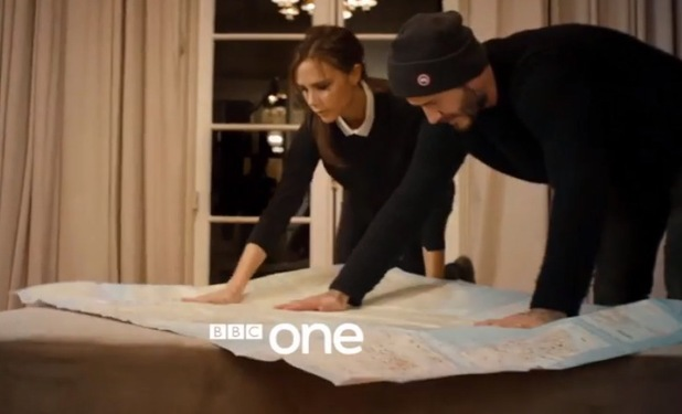 Victoria Beckham stars in husband David's new documentary for BBC One, titled: David Beckham: Into The Unknown. 30 May 2014.