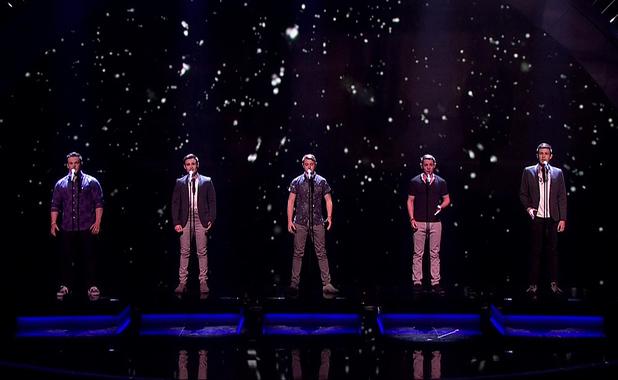 Britain's Got Talent Semi Final Live Show - Collabro - shown on ITV1 HD - 26 May 2014.