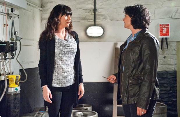 Emmerdale, Moira begs Chas to keep quiet, Mon 2 Jun