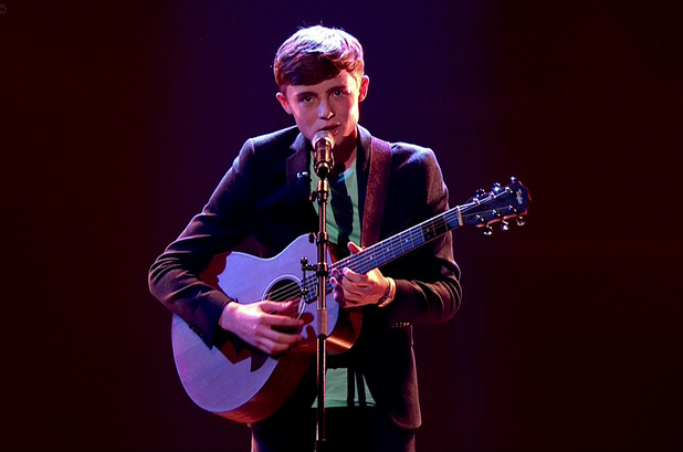 Britain's Got Talent's James Smith performs during the semi-finals (28 May 2014).