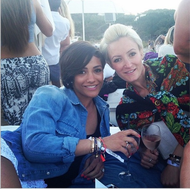 Frankie Sandford shares photo with her sister Victoria in Ibiza 27.04.14