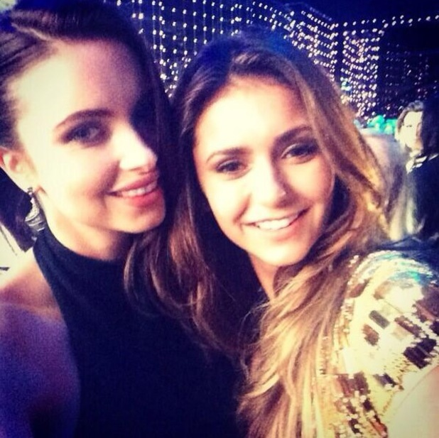 Made In Chelsea's Emma Miller takes a selfie with Nina Dobrev at the World Music Awards in Monaco - 27 May 2014