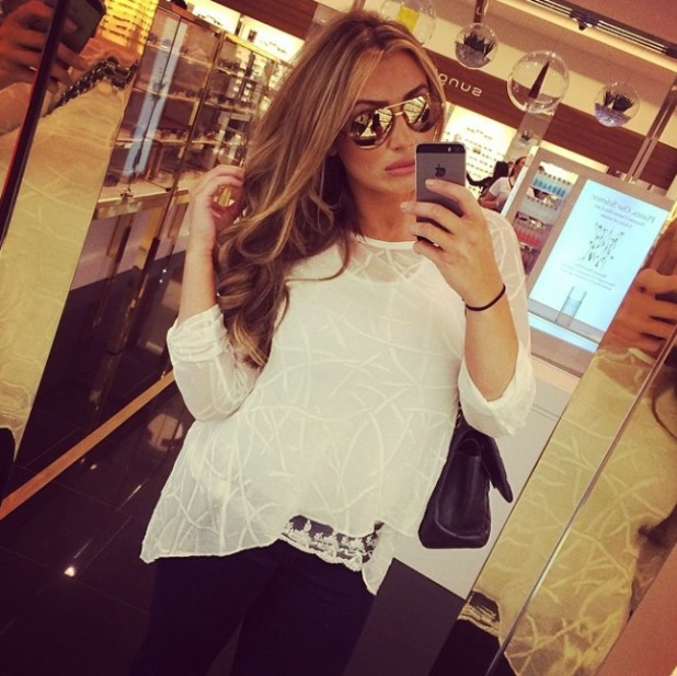 Lauren Goodger enjoys a day out getting her hair done at Tatiana and shopping at Selfridges - 27 May 2014