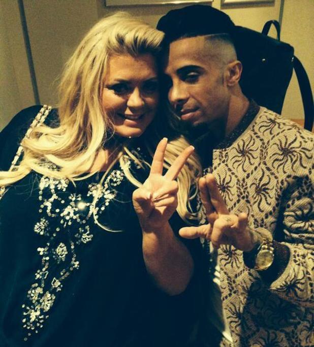 Gemma Collins hangs out with Dappy backstage at Britain's Got More Talent - 27 May 2014