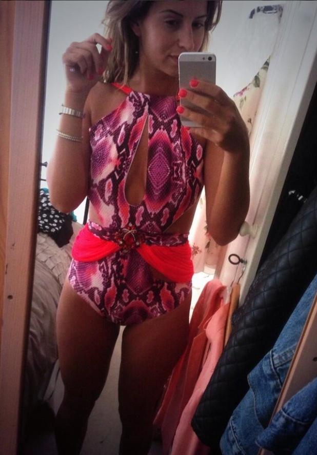 Ferne McCann tries on new bikini