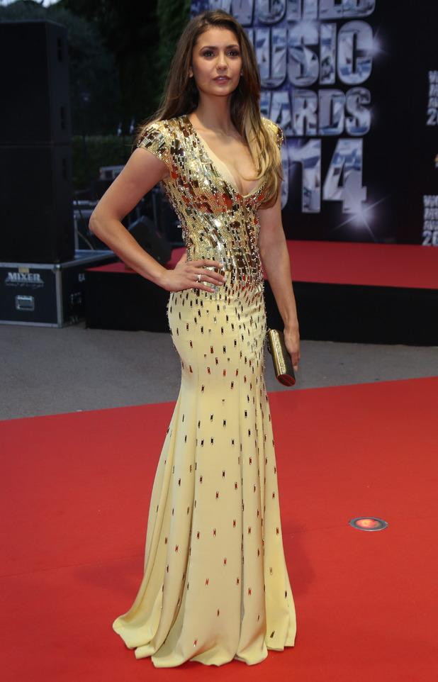 Nina Dobrev attends the World Music Awards in Monte Carlo, Monaco - 27 May 2014