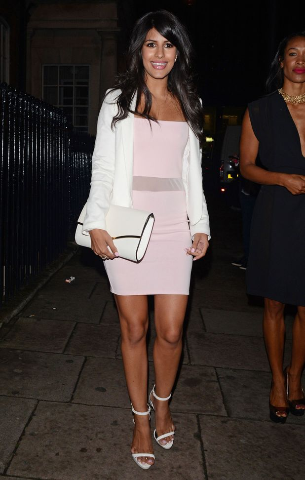 TOWIE's Jasmin Walia steps out at The Only Way Is Essex summer party held at 5 Cavendish Club in London, England - 28 May 2014