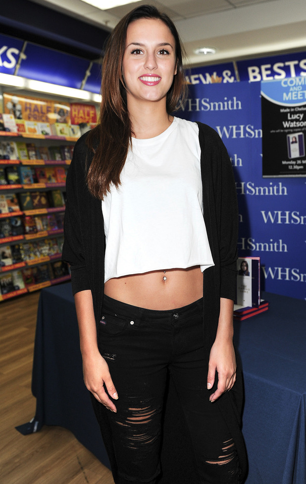Made In Chelsea's Lucy Watson attends a signing for her new book 'The Dating Game' at WHSmith in Milton Keynes, England - 26 May 2014