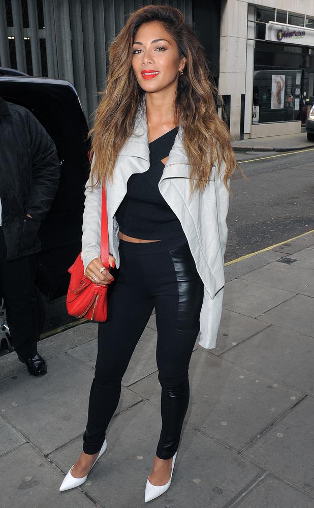 Nicole Scherzinger on the way to the Kiss FM studios