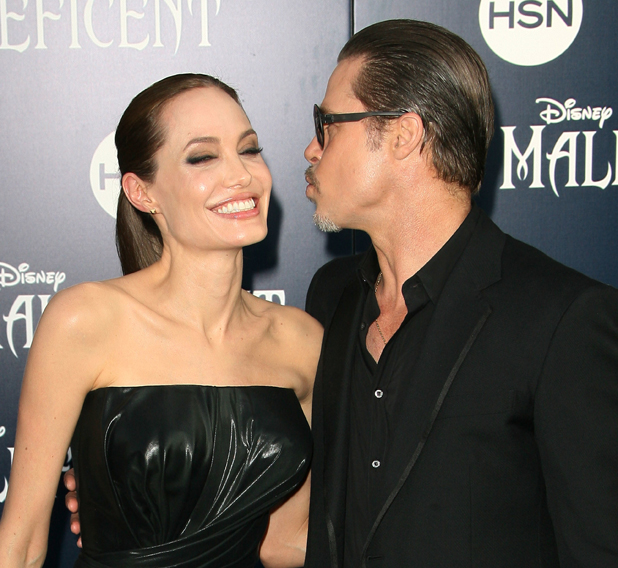Angelina Jolie and Brad Pitt, World Premiere of Disney's 'Maleficent' held at the El Capitan Theatre - Arrivals, 28 May 2014