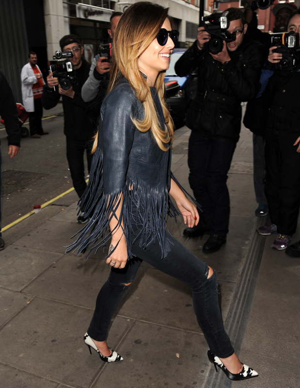Cheryl Cole outside the Kiss FM studios in London after announcing comeback single will be released 20 July 2014, 30 May 2014