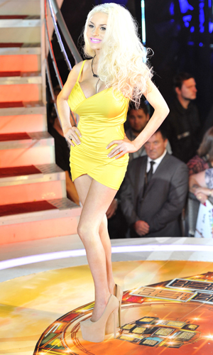 Courtney Stodden arriving for Celebrity Big Brother launch held at Elstree Studios, 2013