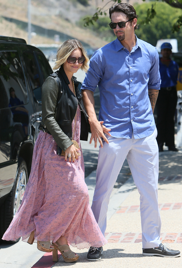 Kaley Cuoco and husband Ryan Sweeting at a Memorial Day Beach Party, Malibu, Los Angeles, America - 26 May 2014