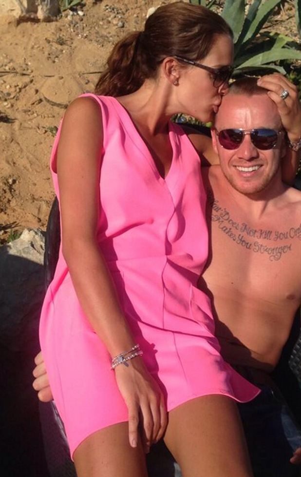 Danielle Lloyd celebrates second wedding anniversary with Jamie O'Hara, 26 May 2014