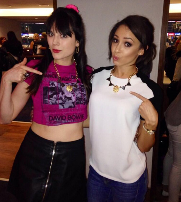 Danielle Peazer and Lilah Parsons at Katy Perry concert in London, 28 May 2014
