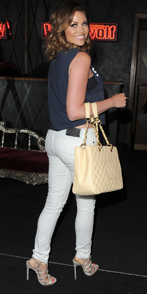 TOWIE star Jessica Wright at Style For Stroke T Shirt Launch party - hosted by Nick Ede - at Werewolf, Piccadilly, London, 29 May 2014