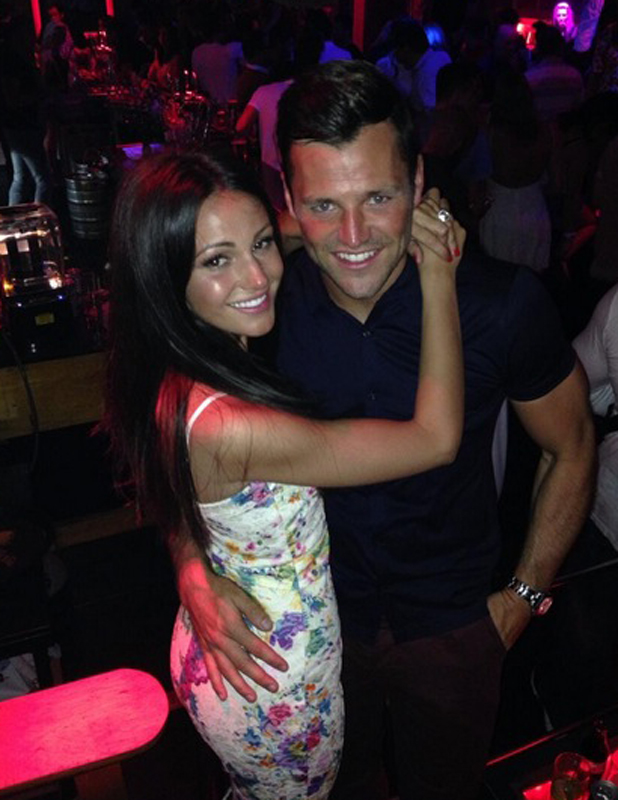 Michelle Keegan and Mark Wright go clubbing in Spain, 28 May 2014