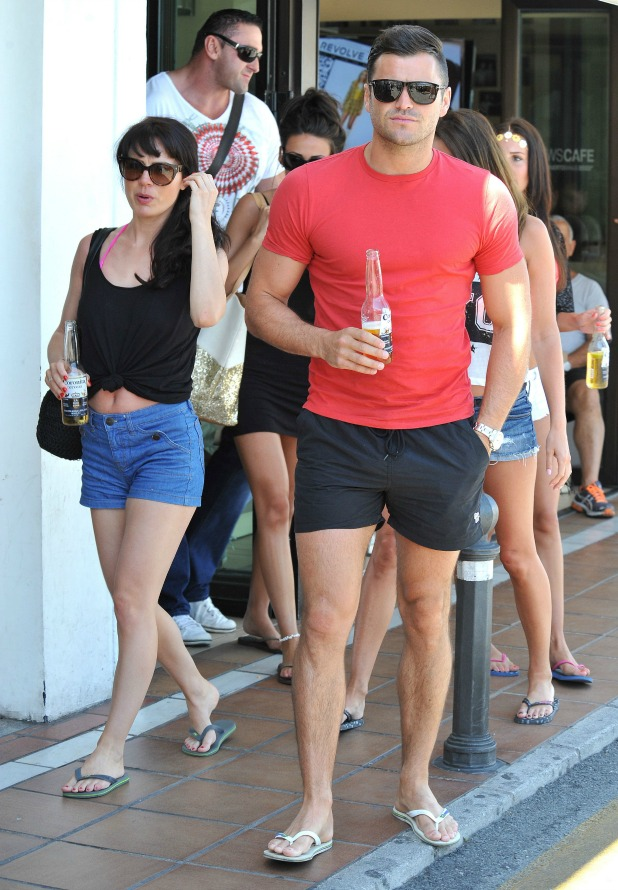 Mark Wright and Michelle Keegan on holiday in Marbella, Spain - 29 May 2014