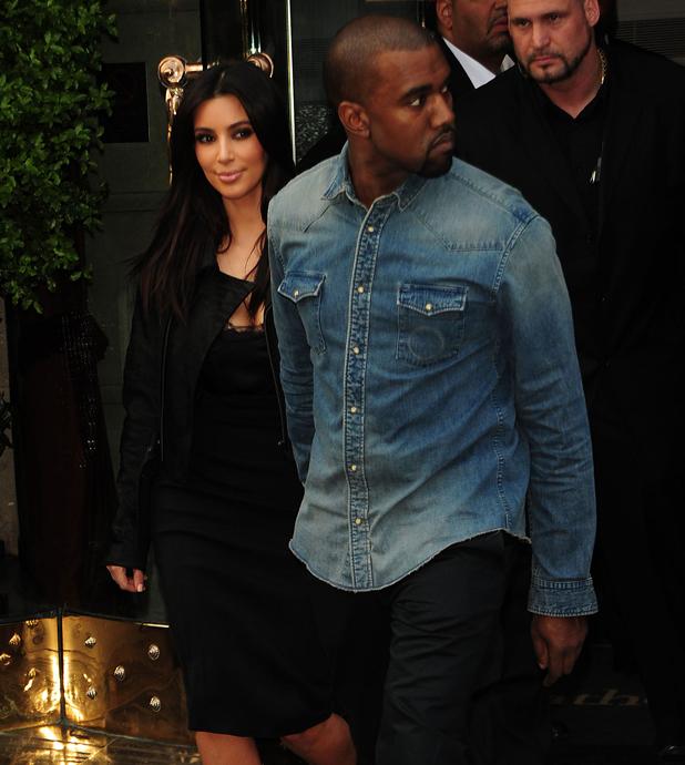 Kim Kardashian and Kanye West leaving a central London hotel London, England - 21.05.12