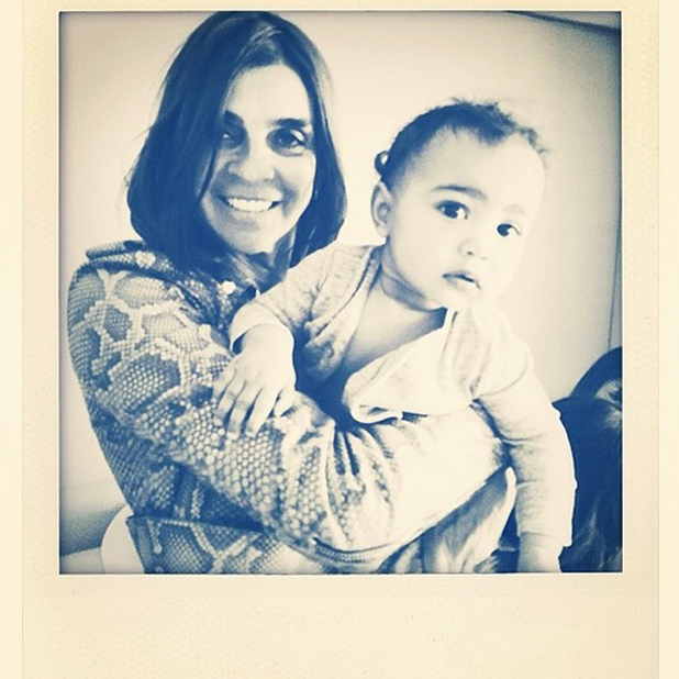 """Former Vogue Paris editor Carine Roitfeld shares photo of Kim Kardashian and Kanye West's daughter North with the caption: """"Baby North and her new """"nanny"""" Lovely little girl."""""""