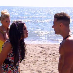 Ex On The Beach, Vicky Pattison and Ricky Guarnaccio clash, MTV - 3 June
