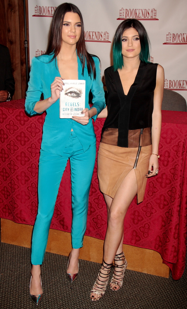 Kendall Jenner and Kylie Jenner attend a book signing for their new book 'Rebels: City of Indra: The Story of Lex and Livia' - New Jersey, America - 3 June 2014