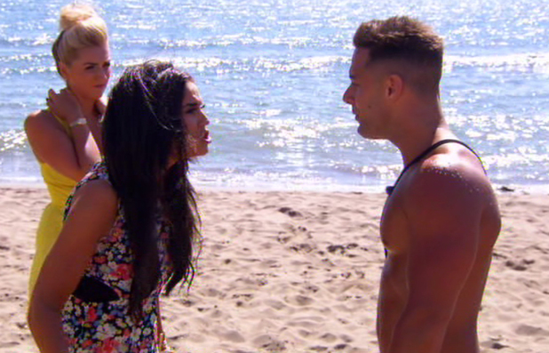 Ex On The Beach, Vicky Pattison and Ricky Guarnaccio clash, MTV - 3 June