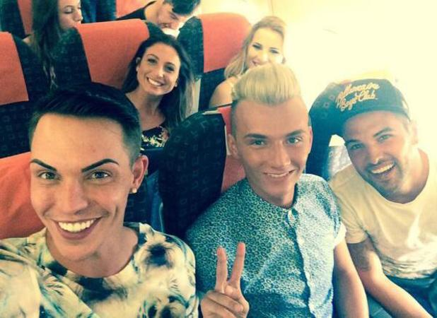Bobby Norris shares picture of the TOWIE cast heading to Marbella, 7 June 2014