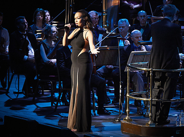Rebecca Ferguson shows off baby bump at Symfunny, Royal Albert Hall, London. 4 June 2014